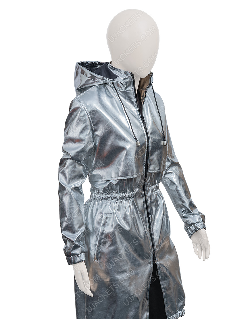April Sofia Carson Feel The Beat Silver Coat
