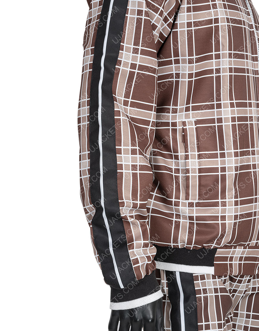 Coach Brown Plaid Colin Farrell The Gentlemen Brown Tracksuit