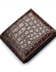 Crocodile-Leather-Brown-Wallet