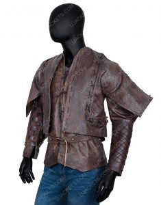 Devon Terrell Cursed Brown Leather Jacket