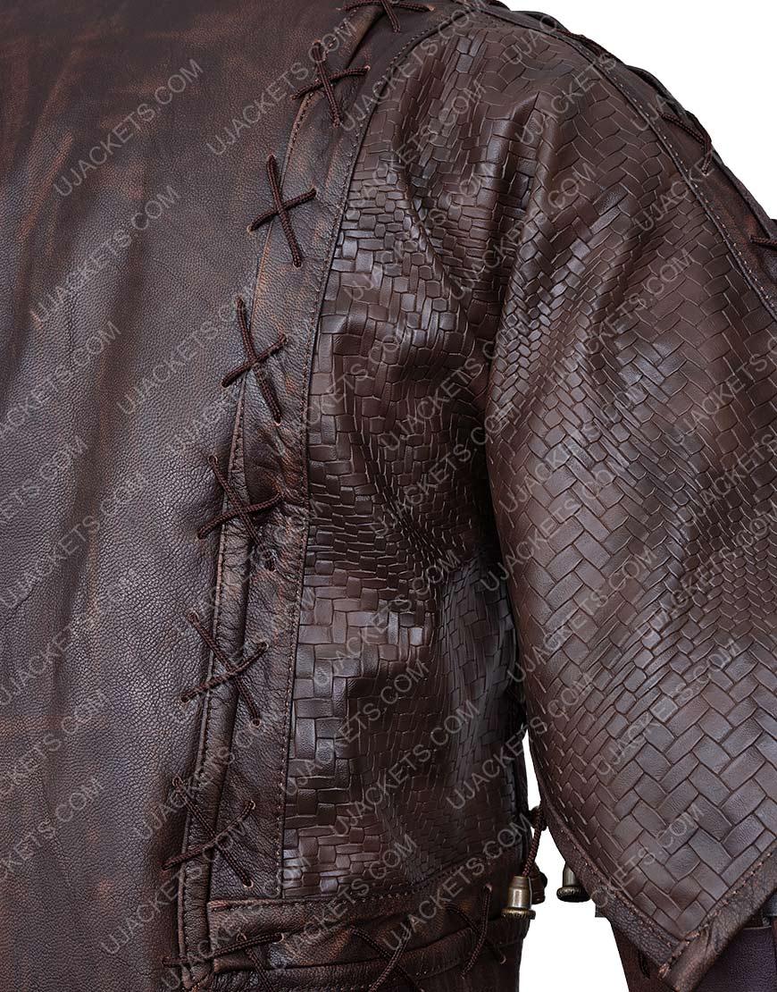 Devon Terrell Tv-Series Cursed Brown Jacket