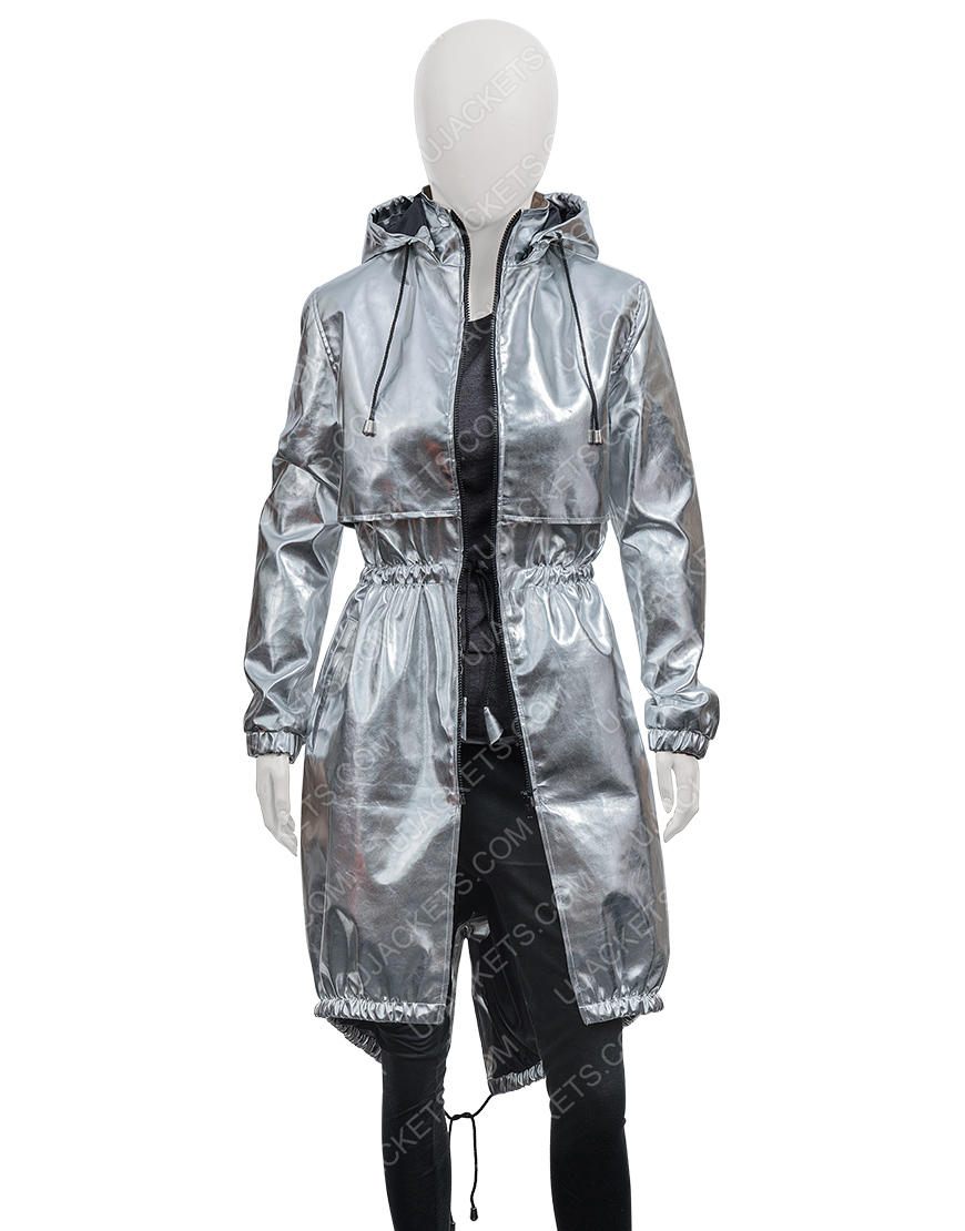 Feel The Beat April Sofia Carson Silver Coat
