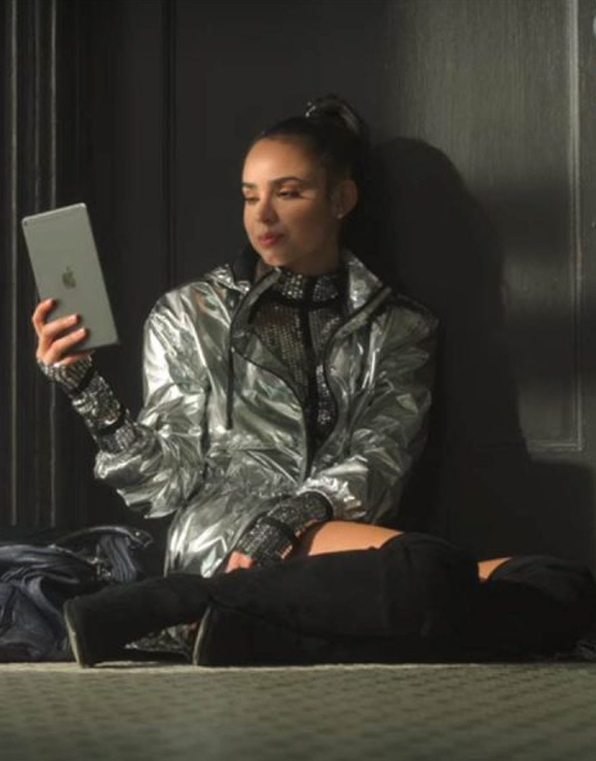 Feel-The-Beat-April-Sofia-Carson-Silver-Coat