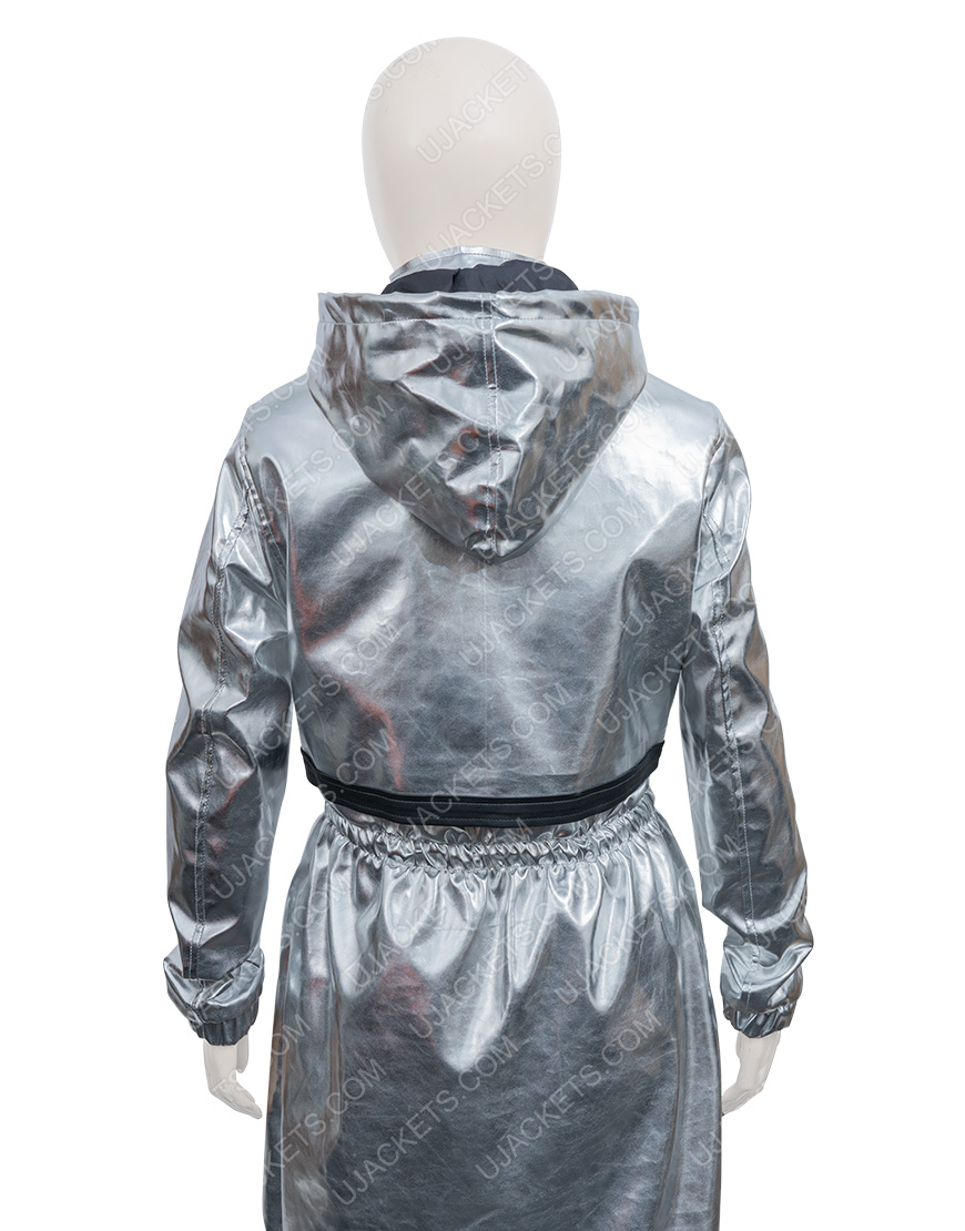 Feel The Beat Sofia Carson Silver Coat