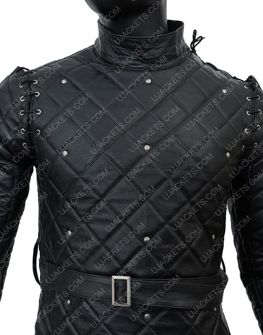Game Of Thrones Samwell Tarly Quilted Leather Jacket