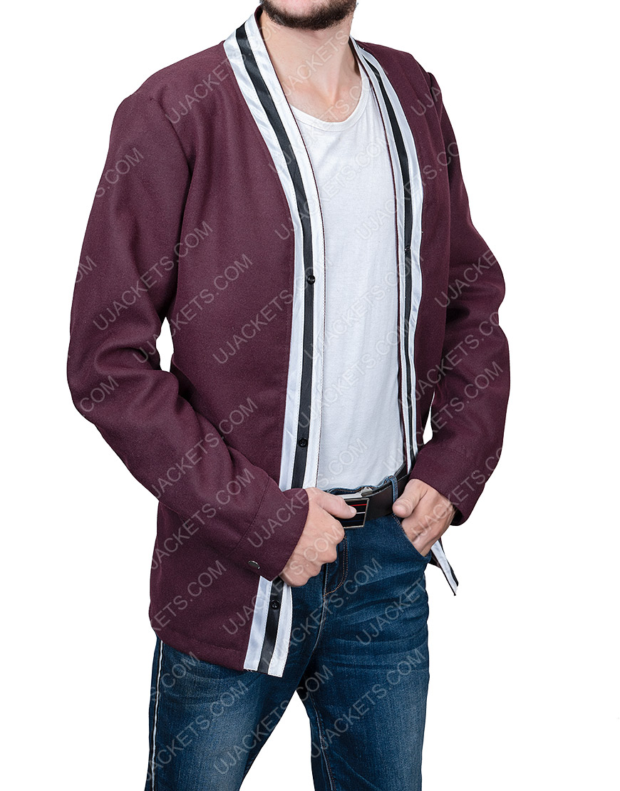 Jake Horowitz The Vast Of Night Everett Sloan Jacket With White Stripes