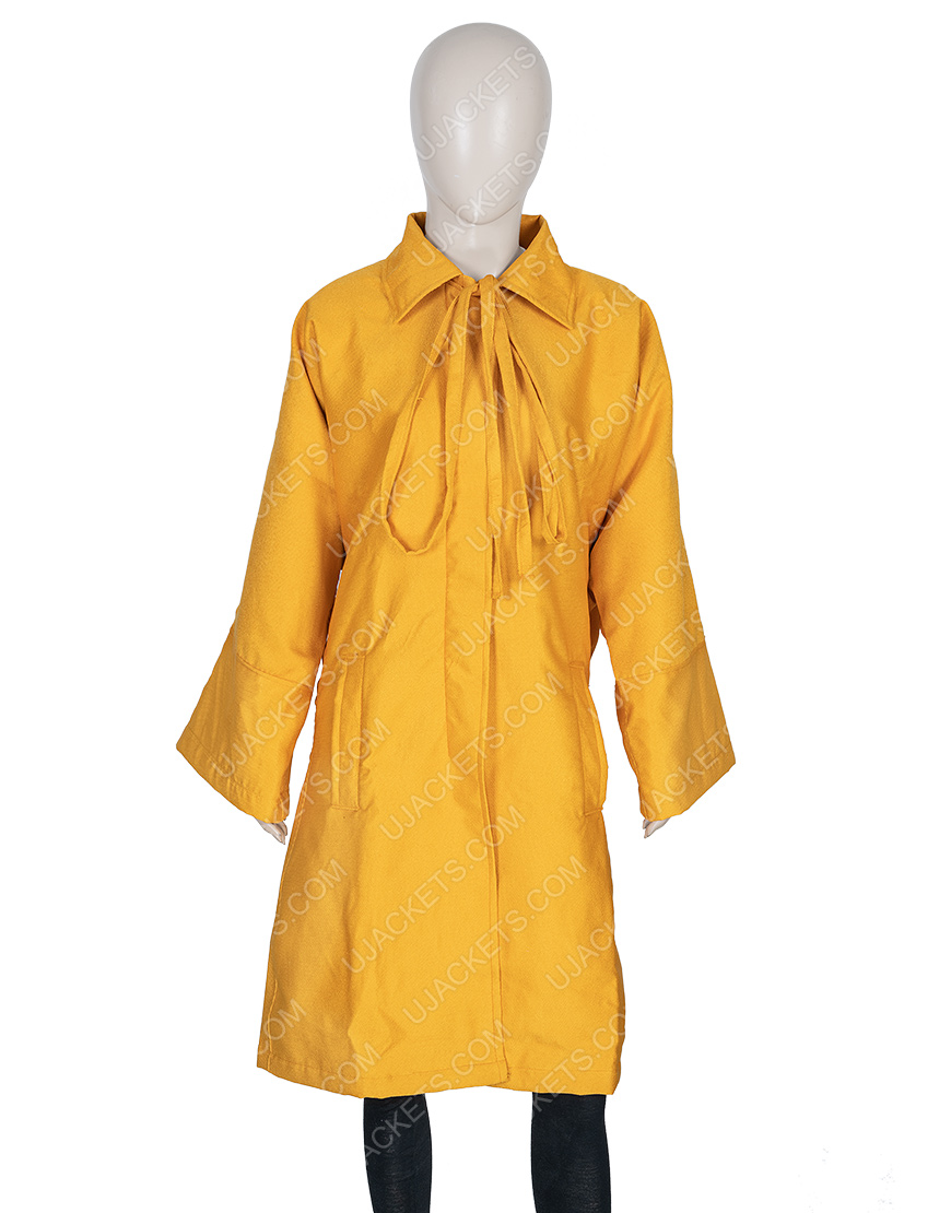 Jodie Comer Killing Eve Season 03 Villanelle Yellow Wool Blend Coat