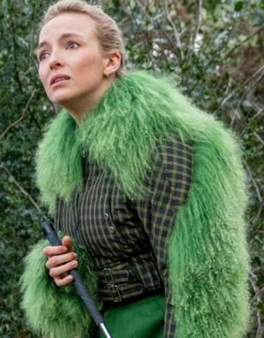 Killing-Eve-S03-Green-Fur-Jodie-Comer-Cropped-Jacket