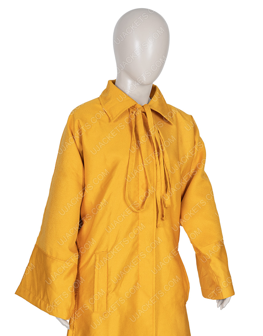 Killing Eve Season 03 Villanelle Yellow Wool Blend Coat
