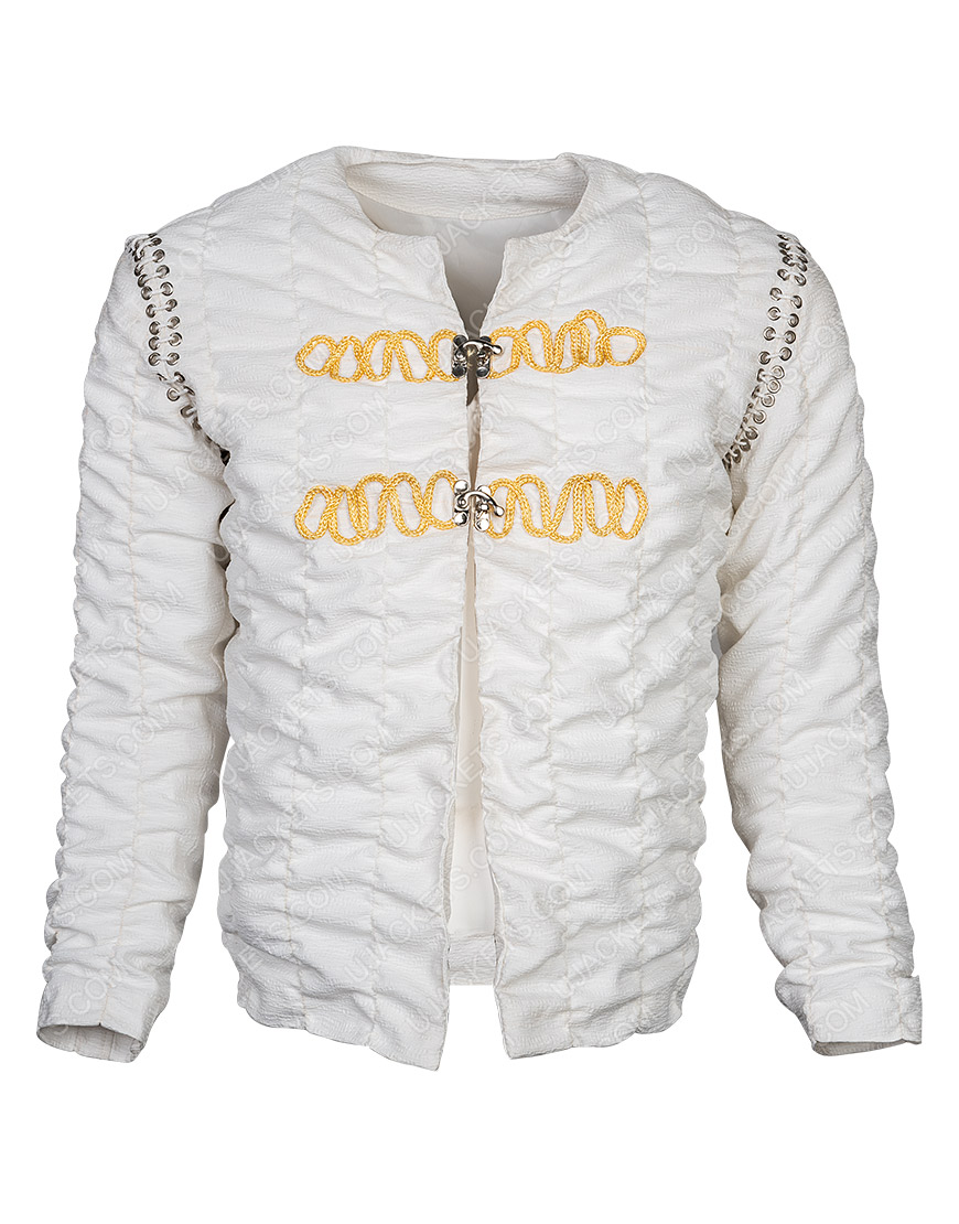 Legends Of The Sword Charlie Hunnam Ivory Cotton Jacket