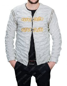 Legends Of The Sword King Arthur Charlie Hunnam Ivory Cotton Jacket
