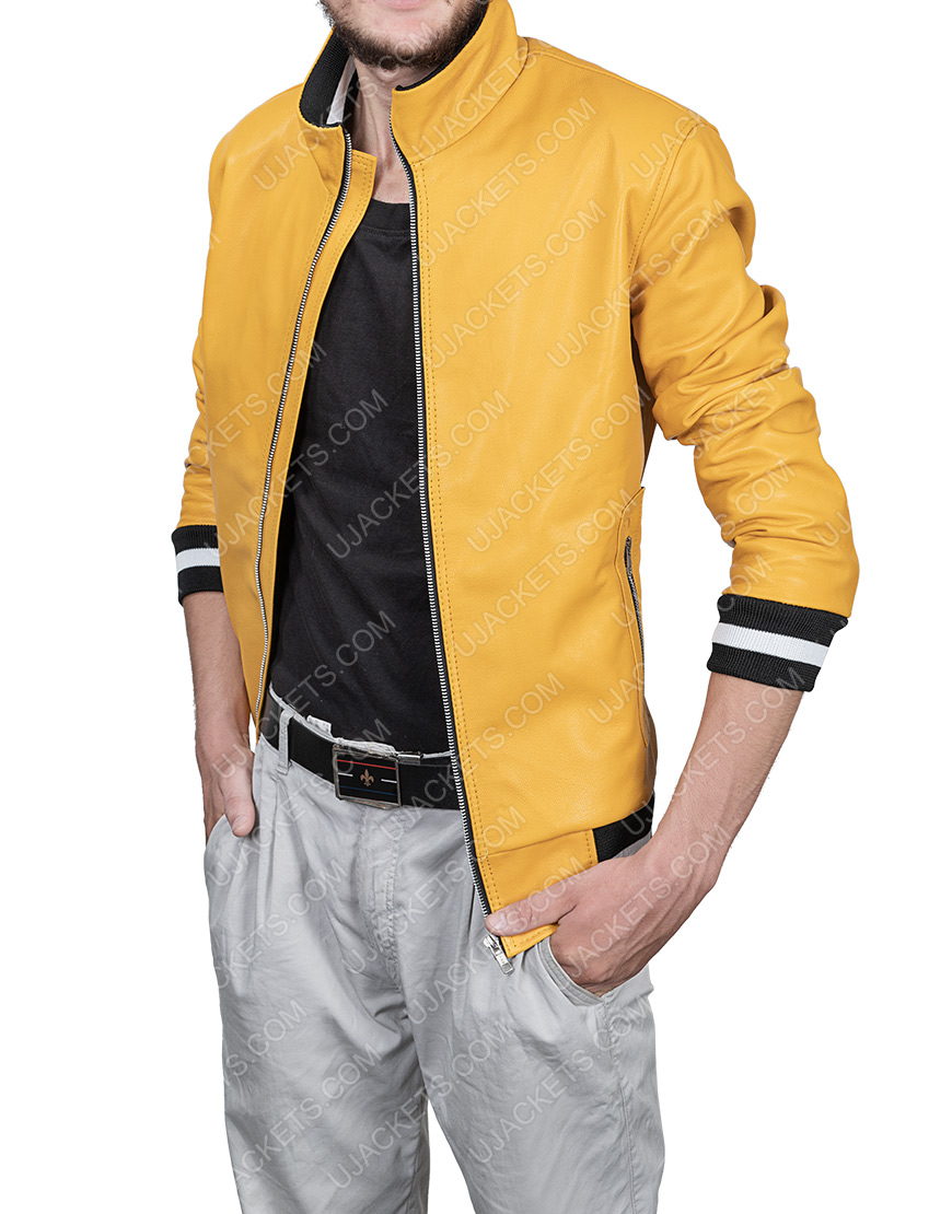 Love, Victor Yellow Leather Jacket