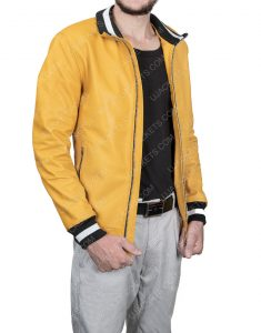 Michael Cimino Love, Victor Yellow Leather Jacket