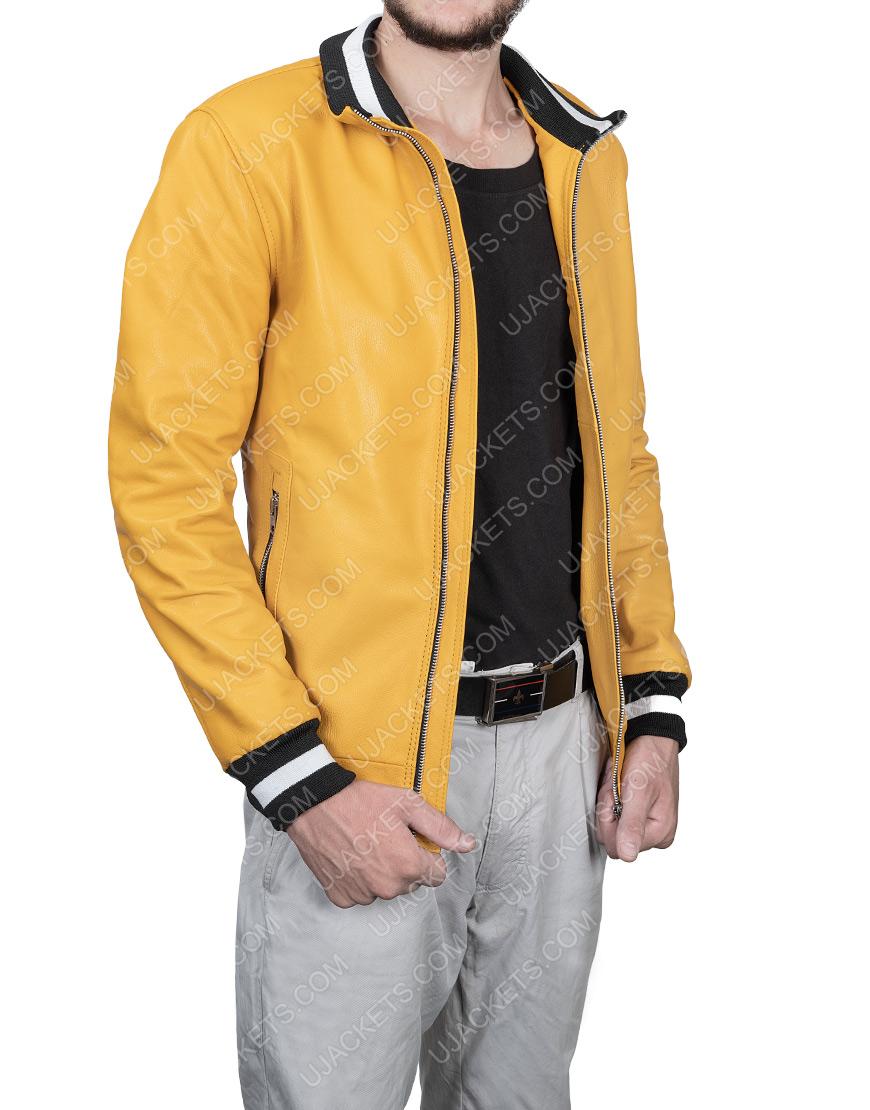 Michael Cimino Love, Victor Yellow Leather Jacket