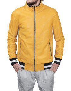 Michael Cimino Victor Salazar Yellow Leather Jacket