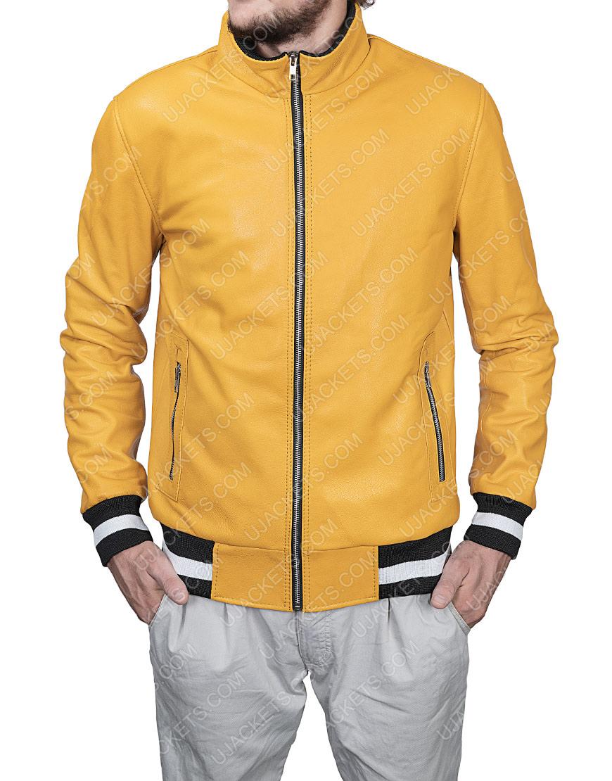 Michael Cimino Victor Salazar Yellow Leather Jacket