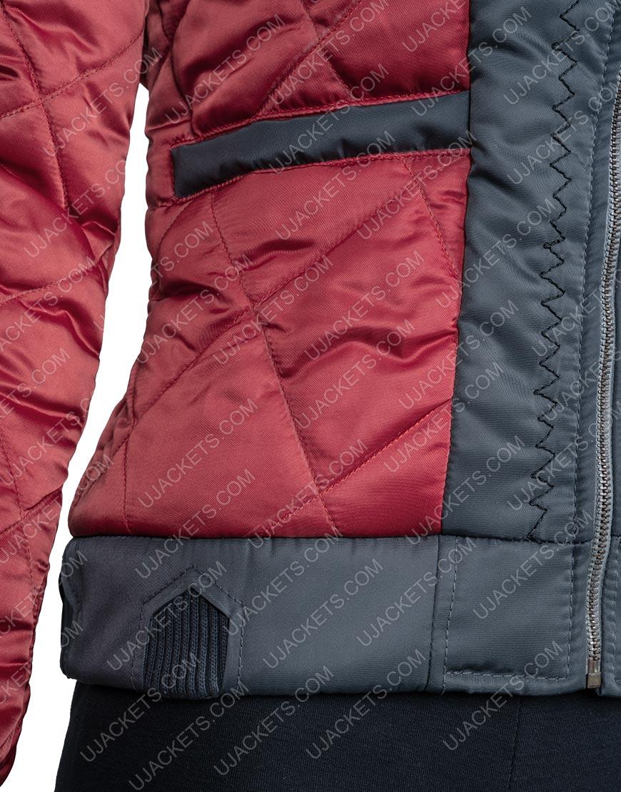 Raven Reyes The 100 Lindsey Morgan Red Leather Jacket