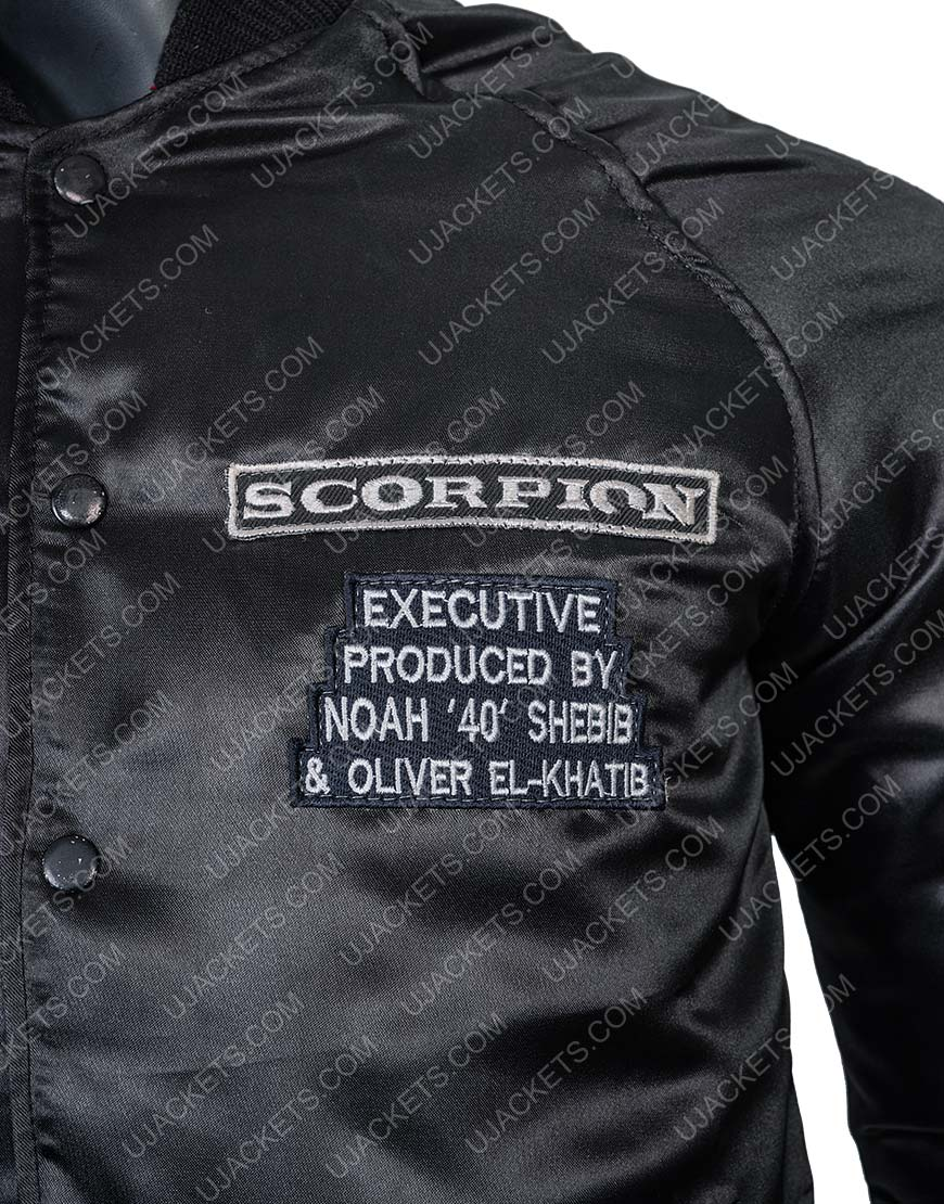 Scorpion Drake Black Bomber Jacket