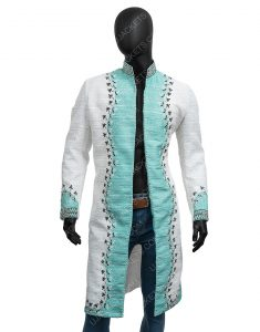 The Umbrella Academy S02 Blue & Silver Embroidery Klaus Hargreeves Coat