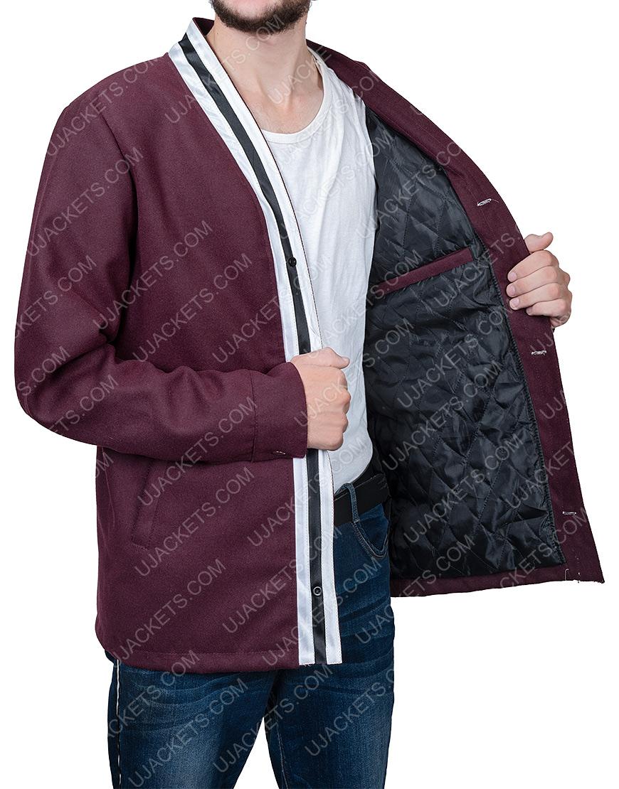 The Vast Of Night Everett Sloan Jake Horowitz Jacket With White Stripes