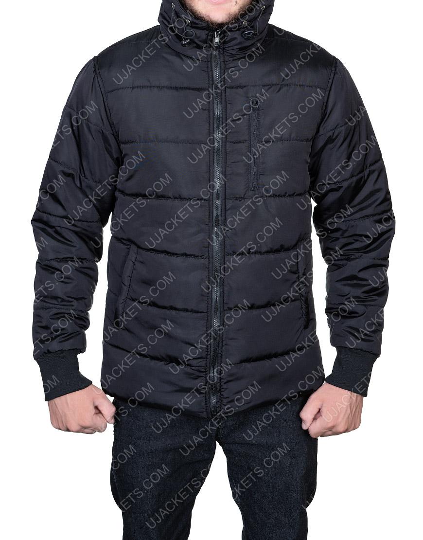 Black Parachute Jacket For Mens Wear