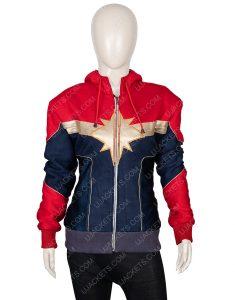 Clearance Sale 0018 Red & Blue Cotton Fleece Hooded Jacket