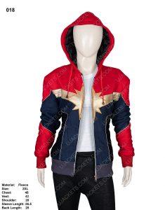Clearance Sale 0018 Red & Blue Cotton Fleece Hooded Jacket (2XL)