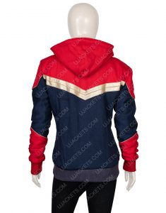 Clearance Sale 0018 Red & Blue Cotton Fleece Jacket