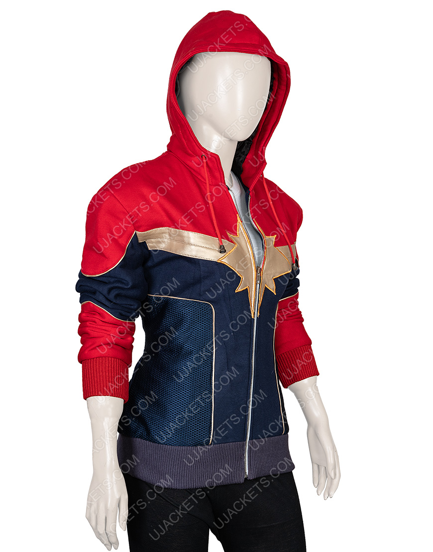 Clearance Sale 0018 Red & Blue Cotton Fleece Jacket (2XL)