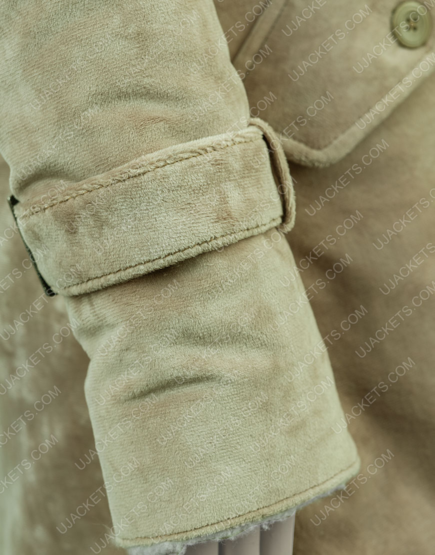 Clearance Sale 0019 Fawn Long Hooded Coat (Medium)