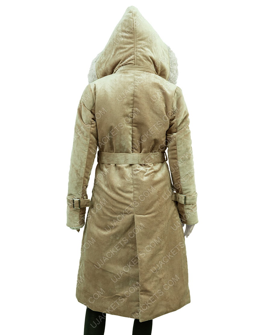Clearance Sale 0019 Fawn Long Hooded Coat