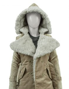 Clearance Sale 0019 SuedeCotton Long Hooded Coat