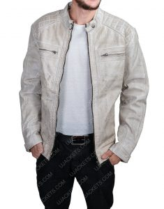 Clearance Sale 0020 Men's Cotton Suede Grey Jacket