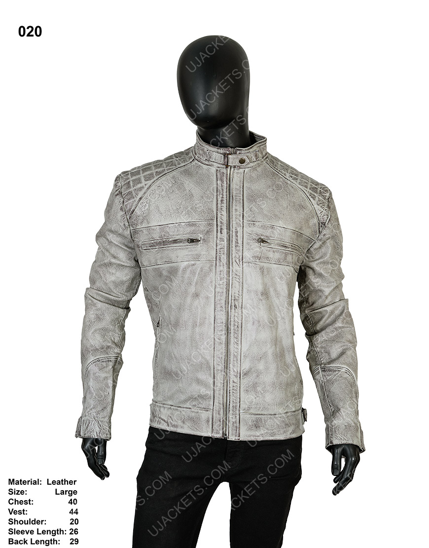 Clearance Sale 0020 Men's Cotton Suede Grey Jacket (Large)