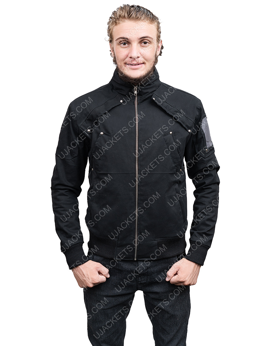 Down To Earth With Zachary David Alexander Efron Black Puffer Jacket