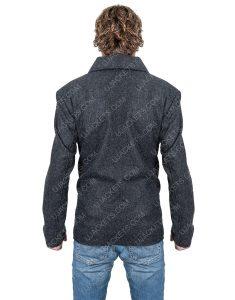 Ian Bohen Double-Breasted Ryan Yellowstone Wool Blend Peacoat