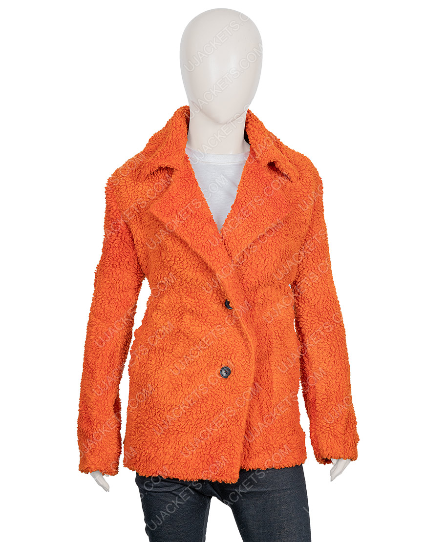 Kelly Reilly Sherpa Yellowstone Beth Dutton Brown Fur Jacket