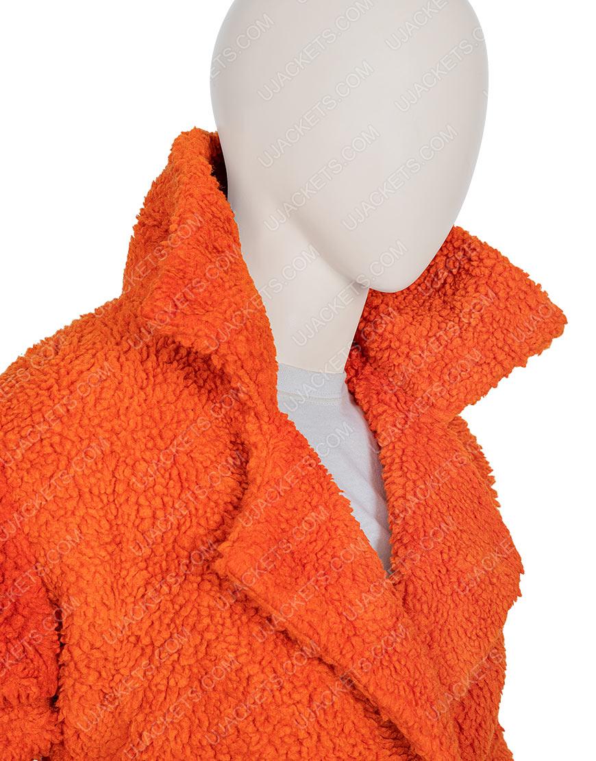 Kelly Reilly Sherpa Yellowstone Dutton Brown Fur Jacket