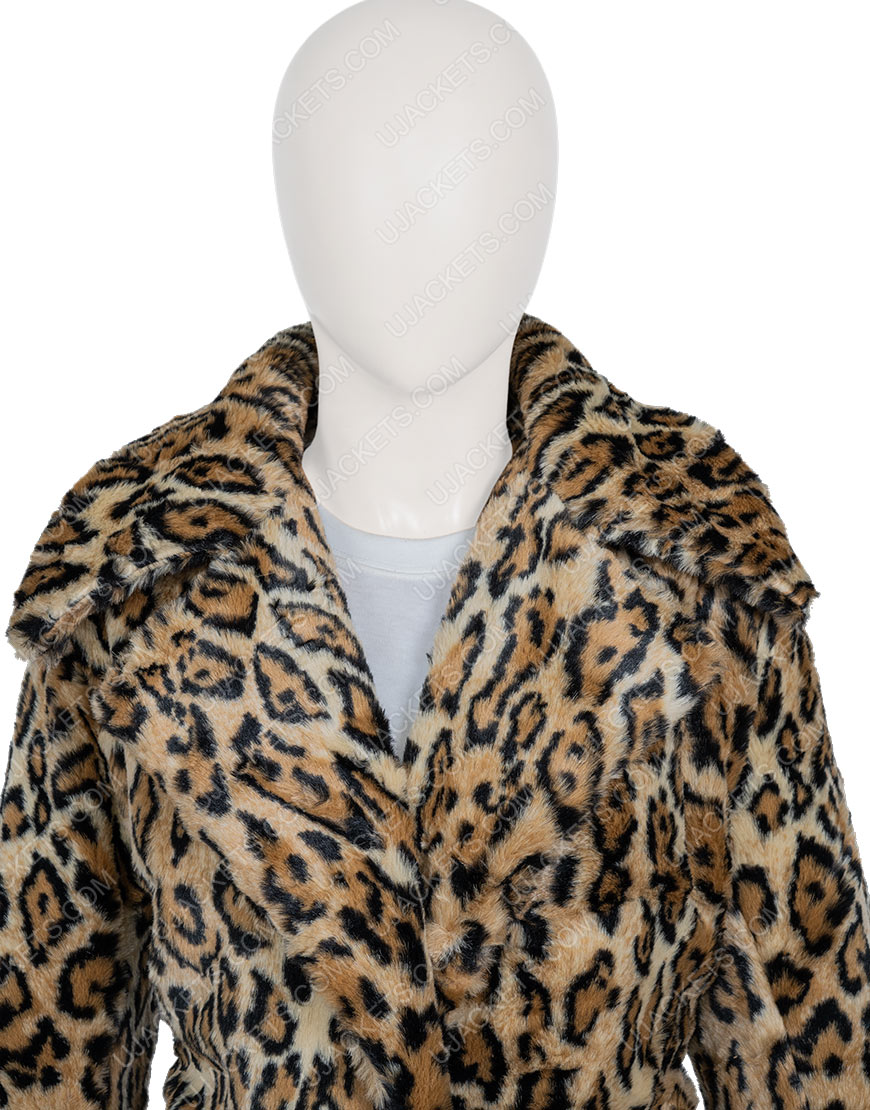 Kelly Reilly Yellowstone S02 Beth Dutton Cheetah Print Coat