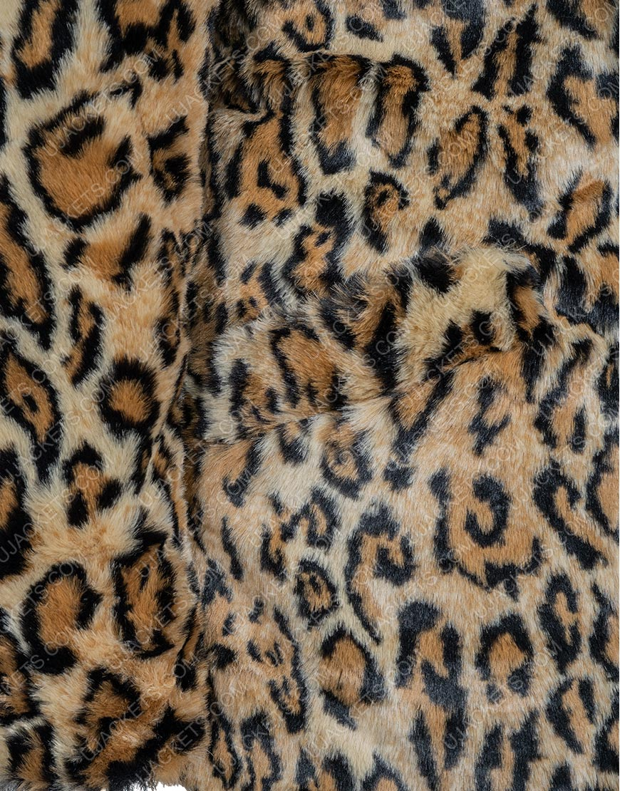 Kelly Reilly Yellowstone S02 Cheetah Print Coat
