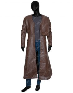 Merlin Cursed 2020 Gustaf Skarsgård Long Trench Coat
