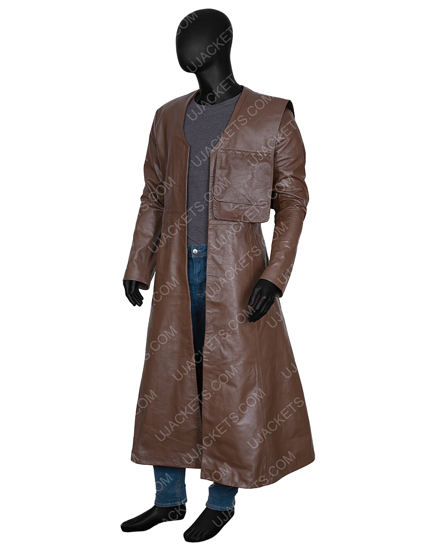 Merlin Cursed 2020 Gustaf Skarsgård Trench Coat