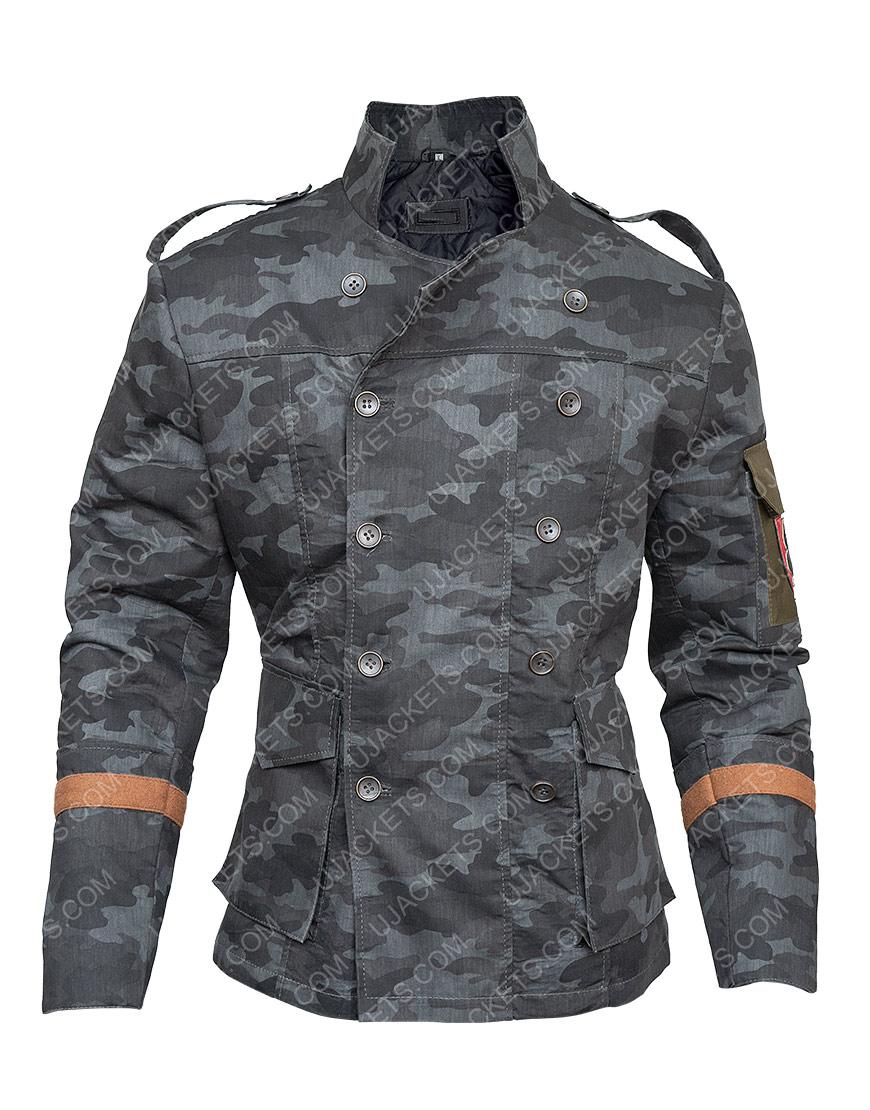 Resident Evil 6 Blue Double Breasted Jake Muller Jacket Front