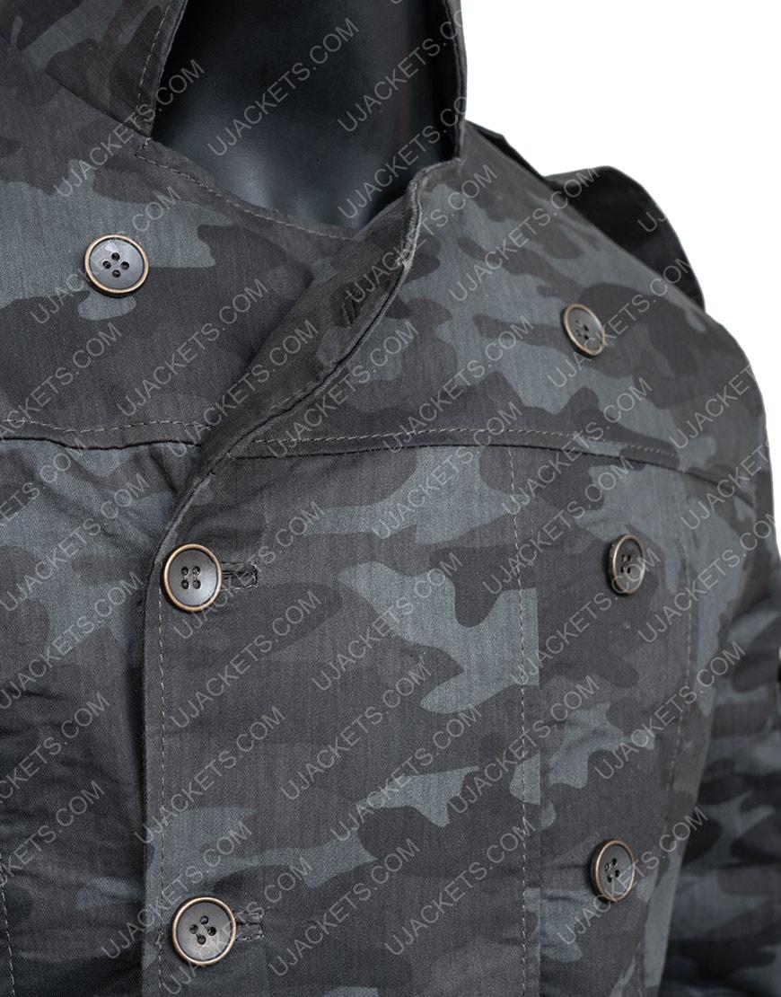 Resident Evil 6 Blue Double Breasted Jake Muller Jacket Pocket
