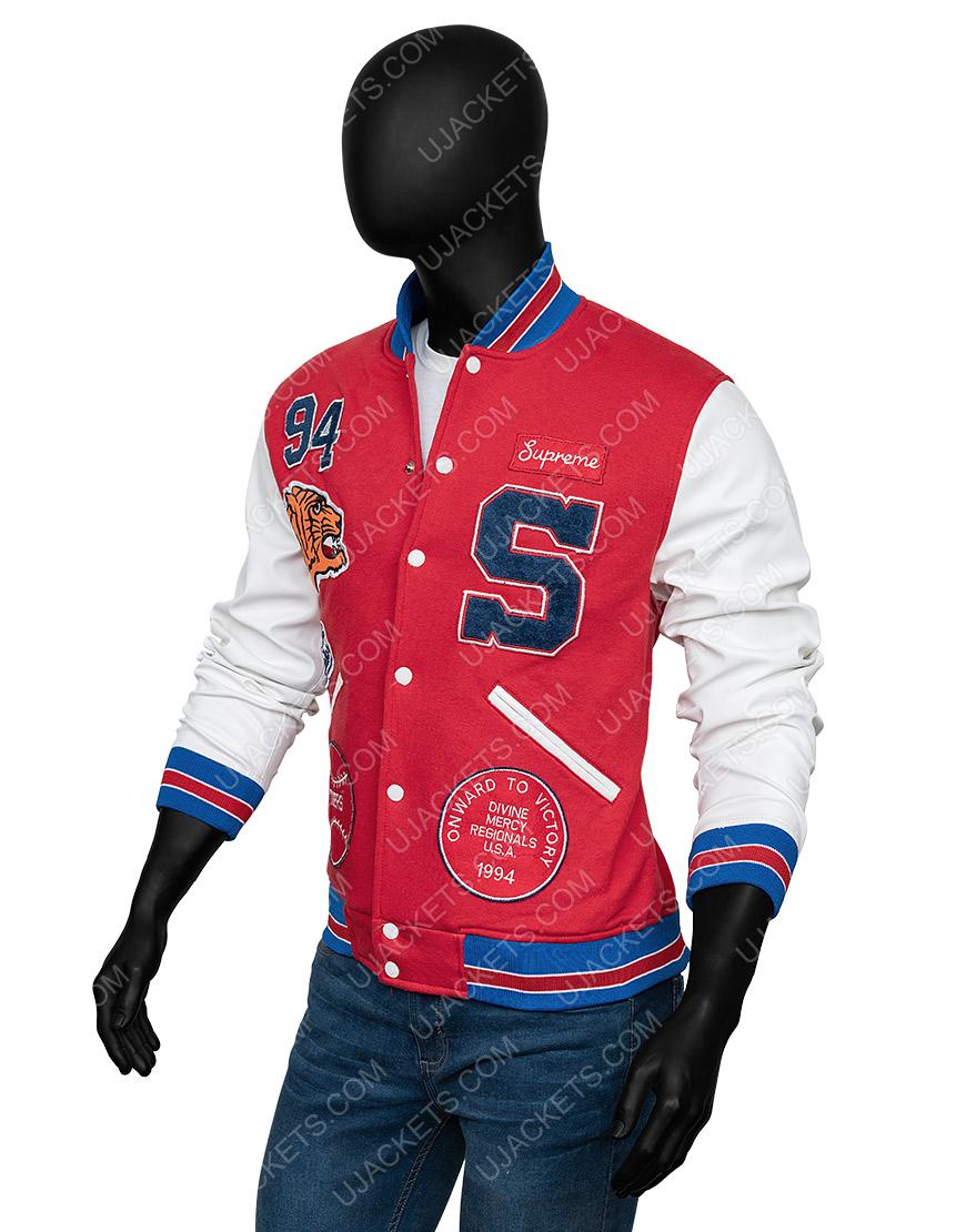 Supreme Logo Varsity Jacket