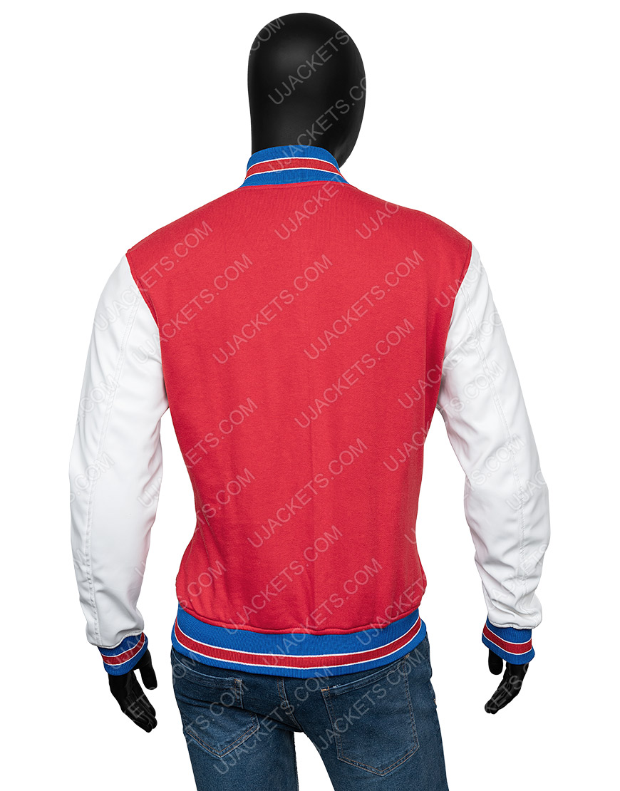 Supreme Tiger Logo Red Varsity Letterman Jacket