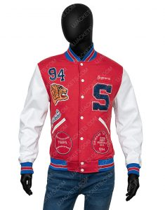 Supreme Tiger Logo Varsity Jacket