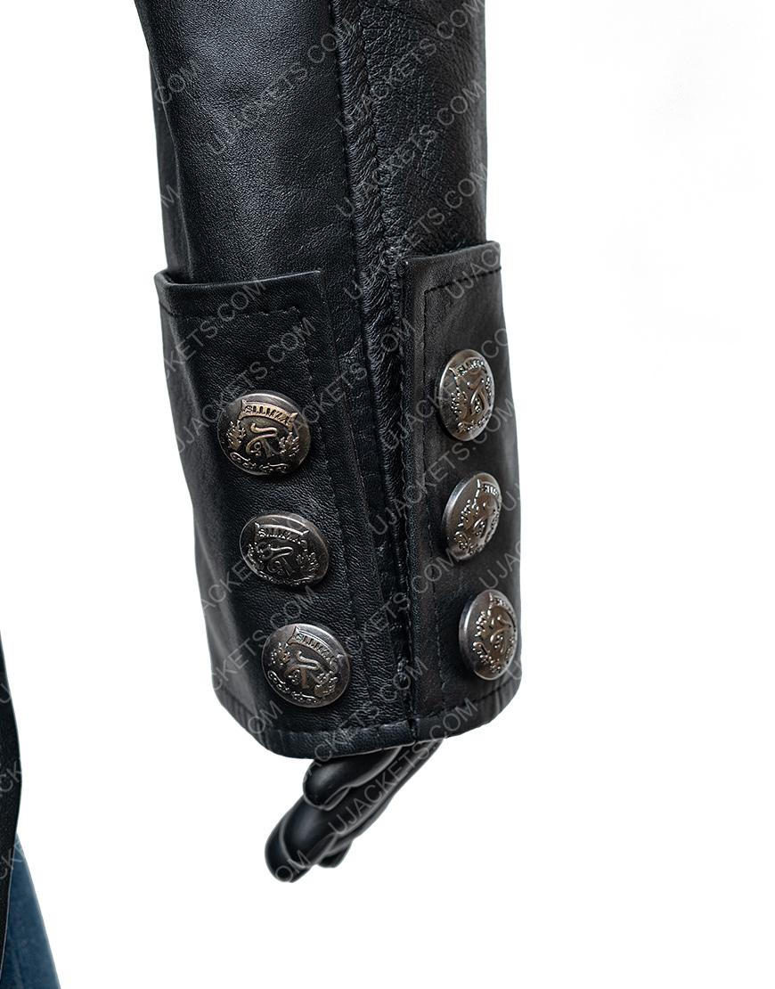 WWE Bray Watt The Fiend Black Leather Jacket