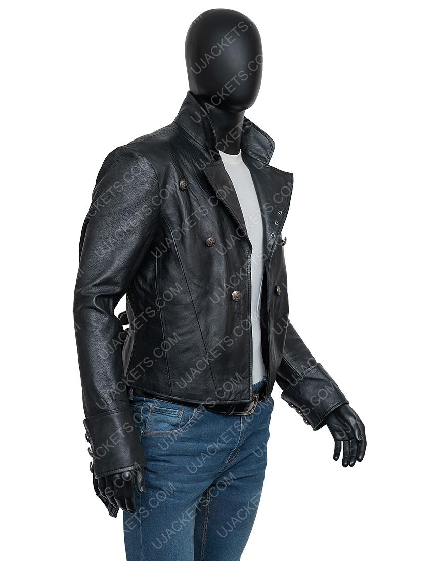 WWE Superstar Bray Watt The Fiend Black Leather Jacket