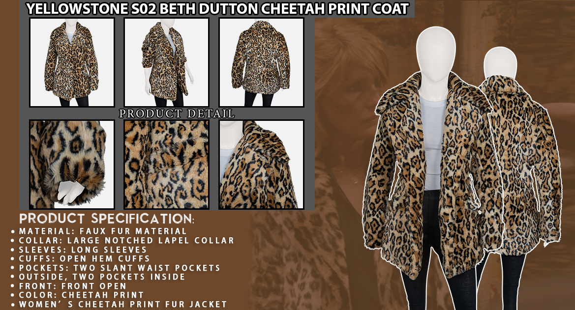 Yellowstone-S02-Beth-Dutton-Cheetah-Print-Coat